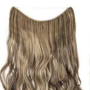 BRAND NEW BROWN/BLONDE INVISIBLE HALO EXTENSIONS